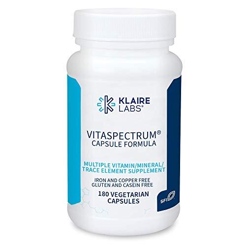 Klaire Labs VitaSpectrum Capsules - Children's Multivitamin & Multimineral with 28 Essential Nutrients, No Copper or Iron, Gluten-Free & No Casein (180 Capsules)