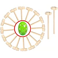 20-Piece Hengya Mini Wooden Hammers Mallet Pounding Toy