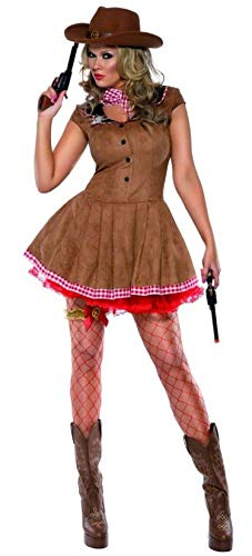 Dames Koorts Sexy Cowgirl Cowboy & Indianen Wild West Western Gunslinger Sheriff Fancy Jurk Party Kostuum Outfit