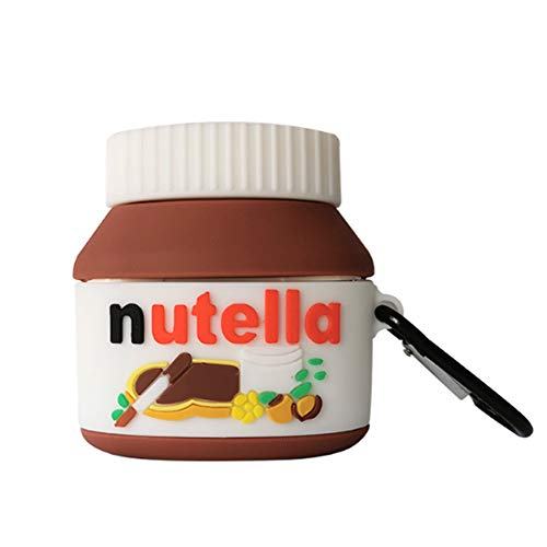 Compatible with AirPods Pro Case Nutella, Kids Teens Girls Boys Women Protective Silicone Character Skin for AirPod Case, Funny Kawaii Fashion Cartoon 3D Cute Cover for AirPods Pro (Nutella)