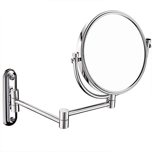 SXTYRL Schminkspiegel Wand-Kosmetikspiegel, moderner minimalistischer Stil Runder rotierender HD-Verstellbarer klappbarer Wandspiegel Dekorativer Spiegel