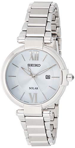 Seiko Reloj Analógico para Mujer de Energía Solar con Correa en Acero Inoxidable SUT153P1