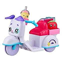 Load up the Kind Kids Fun Delivery Scooter, to take a ride around Rainbow Kind Suitable for the Kind Kids to ride along on My ears move up and down as I roll Comes with 2 Exclusive Shopkins Keep my Smoothie in my cup holder and my Strawberry in my de...