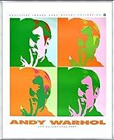 ポスター アンディ ウォーホル セルフポートレート 額装品 アルミ製ベーシックフレーム(シルバー)