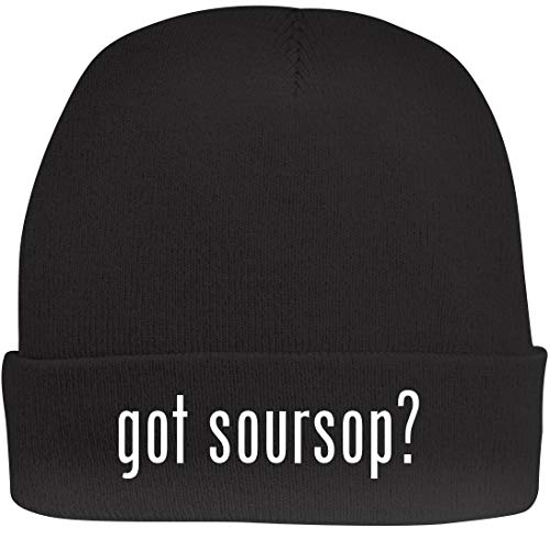 Shirt Me Up got Soursop? - A Nice Beanie Cap, Black, OSFA