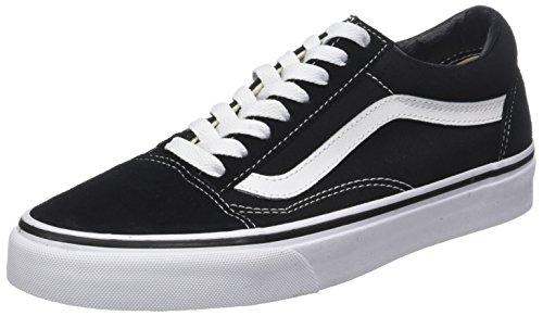 Vans Herren Old Skool Classic Suede/Canvas Sneaker, Black White, 39 EU