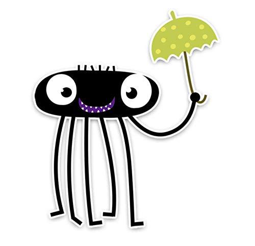 Wandtattoos Wandbilderspinne Auto Regenschirm Dekoration Auto Aufkleber Hohe Qualität Pvc Autofenster Dekoration Applique Zubehör Auto Aufkleber 12.2X14.3 Cm