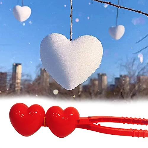 Zhangpu Schneeball Maker, Schneeballformer, Schneeballzange, Snow Play, Pflicht Mit Griff Winterwerkzeug Für Kinder Schneeball Kämpft Winterschnee, Rot