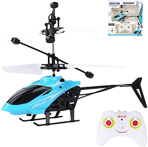 Ferngesteuerter Hubschrauber Kinder, RC Helikopter Flugzeug Geschenk Outdoor, RC Helikopter für Jungen, Start/Landung mit Einer Taste Indoor-Flugspielzeug