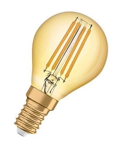 OSRAM LED Vintage Edition 1906, Sockel: E14, Nicht Dimmbar, Warmweiß, Filament Gold
