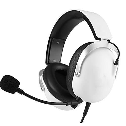 YYZLG Esports Juego Auricular Auriculares, 3.5 Solo Plug Ordenador Usb7.1 Tarjeta De Sonido Auriculares De Juego-Blanco