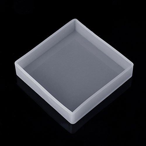 Baiyao Quadratisches Rechteck Schmuck Gießformen für Harz, Silikon Molds Schmuck DIY Silikon Form Resin für Dekoration Crafting, Schmuck Machen