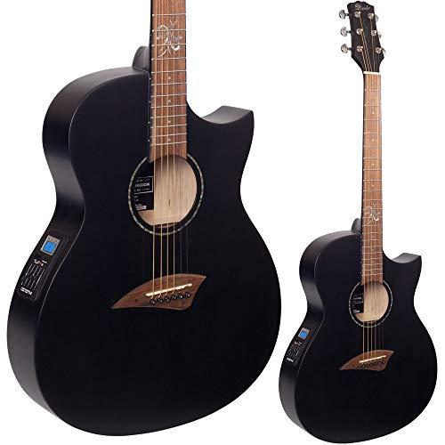 Lindo Slim ORG-SL Infinity Elektroakustische Gitarre mit integriertem LCD-Tuner/Vorverstärker, Schwarz