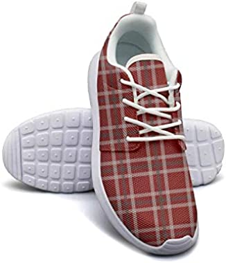 Fat Squares Red Checkerboard Lightweight Running Shoes for Women Sneaker Outdoor Comfort Shoes