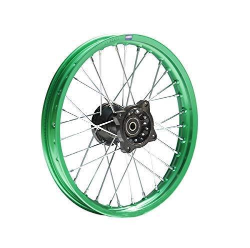 Hmparts Pit Dirt Bike Cross Llantas de Aluminio Anodizado 14 Pulgadas Delant. Verde 12mm Tipo2