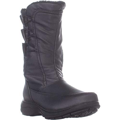 sporto Womens Dana Almond Toe Mid-Calf Fashion Boots Dark Pewter