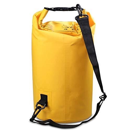 Taoke Esterna Impermeabile Singola Spalla Sacchetto Dry Sack Barrel Bag, capacità: 5L (Nero) 8bayfa (Color : Yellow)