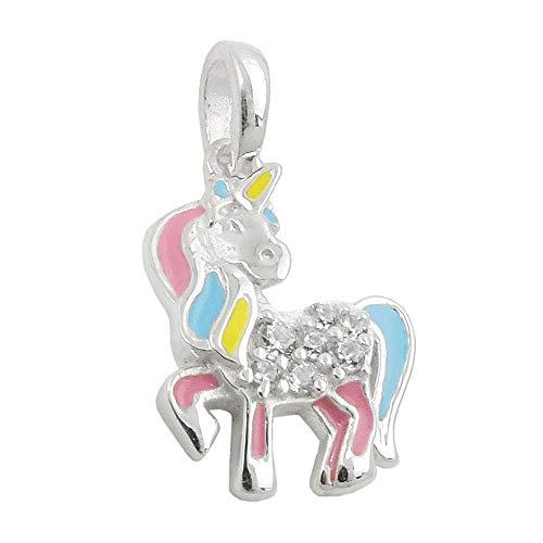 15x11mm caballos colgante mítica criatura con plata córnea 925