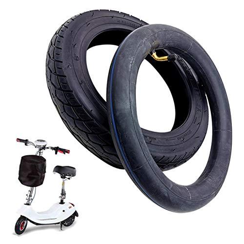 GeKLok Neumático de 12 1/2 x 2 1/4 y tubo interior con válvula para coche acumulador, sillas de ruedas eléctricas, vehículos de movilidad de ancianos (2 unidades)