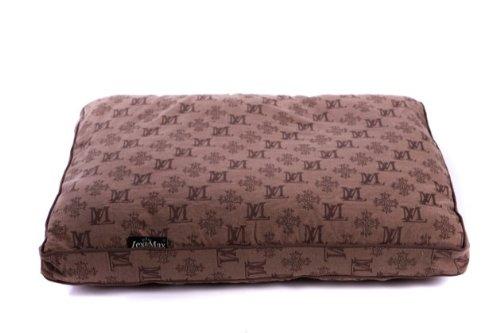 Lex&Max/PETFAB - Bezug Allure für Comfort Hundekissen-Füllung - Größe: 120 x 80 x 9 cm, Farbe: Braun