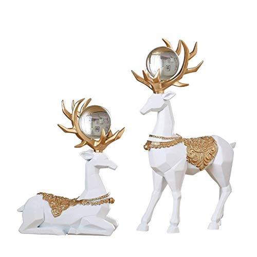 NYDZ Adornos resina escultura vino gabinete decoraciones decoración del hogar Accesorios moderno hogar simple sala de estar entrada TV soporte ciervos muebles para el hogar artesanía