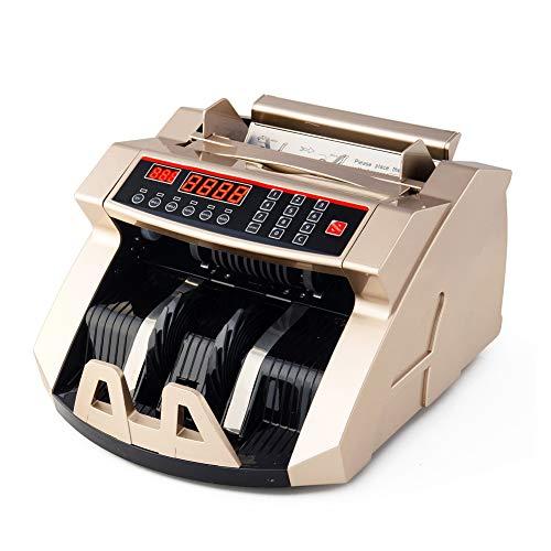 TYX-SS Conta Banconote, Denaro Contatore con Display LED Contabanconote, UV MG IR Rivelatore di Banconote False Contasoldi Conta (EUR/GBP/USD)
