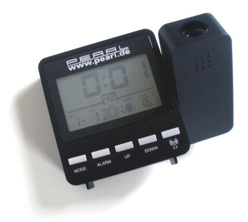 Pearl Proyección Radio Reloj Despertador: Despertador de proyección inalámbrico DAC-662.Beam con indicador de Temperatura (Despertador con Dígitos Luminosos a Manta)