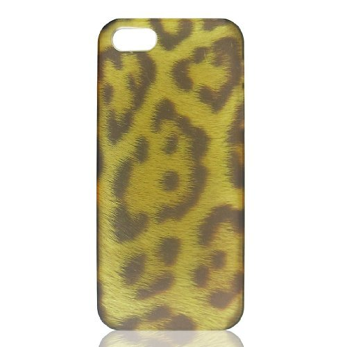 DealMux Brown Leopard Pattern Hard Case Cover Bumper pour Apple iPhone 5 5 G 5 Gen