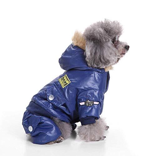 Zgywmz Winterjas Vest Jassen Sneeuwpak Kleding Vierbenige Air Force Kleding voor Kleine Medium Grote Honden, M, Schapen