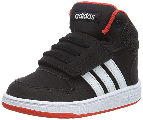 adidas Unisex Baby Hoops MID 2.0 I Gymnastikschuhe, Schwarz (Core Black/FTWR White/Hi/Res Red S18 Core Black/FTWR White/Hi/Res Red S18), 22 EU