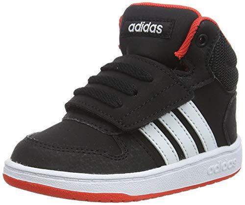 adidas Unisex Kinder Hoops MID 2.0 I Gymnastikschuhe, Schwarz (Core Black/FTWR White/Hi/Res Red S18 Core Black/FTWR White/Hi/Res Red S18), 22 EU