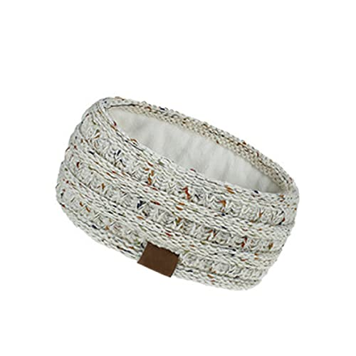 Diadema de tejido suave para mujer, de moda elástica, forro polar suave, regalo para amiga (008)