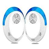 Dioxide Repellente Ultrasuoni 2 Pack, Antizanzare Ultrasuoni Repellente per Insetti Ultras...
