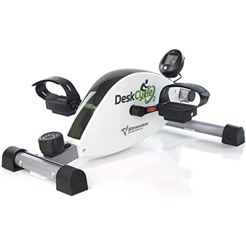 DeskCycle 2 Under Desk Bike Pedal Exerciser with Adjustable Leg - Desk Cycle, Mini Exercise Bike Peddler for Home & Office by 3D Innovations