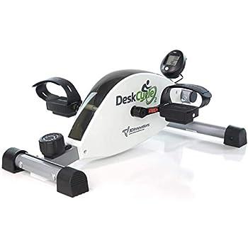 DeskCycle 2 Under Desk Bike Pedal Exerciser with Adjustable Leg - Mini Exercise Bike Desk Cycle Leg Exerciser for Physical Therapy & Desk Exercise