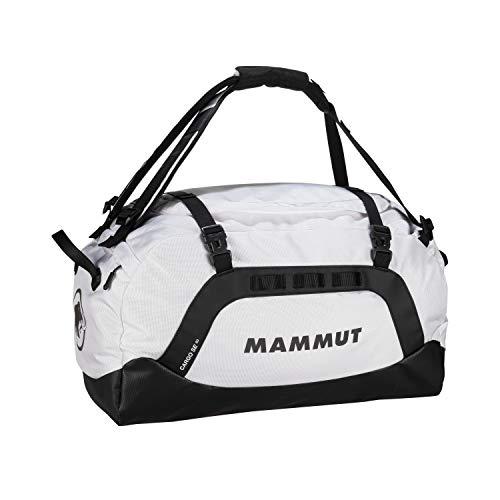 Mammut Cargo SE 60 Reise- / Sport-Tasche - Robuste Reisetasche mit breiten Handgriffen - abriebfester Boden, 3 Organisationsfächer im Hauptfach, lichtreflektierendes Logo - schwarz-weiß