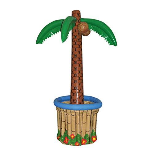 TrendClub100® Enfriador de Bebidas inflables Palmera para Fiesta en la Playa de Hawaii, Piso Alto 180cm