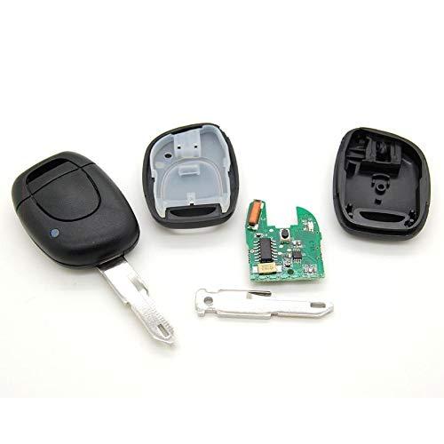 Llave electrónica virgen para programar (incluye pila) para Renault Clio, Kangoo, Master, Twingo.
