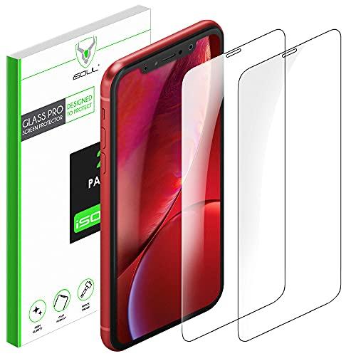 iSOUL [2 Stück] Panzerglasfolie kompatibel mit iPhone 11/ iPhone XR [6,1 zoll] Bildschirmschutzfolie, 9H Festigkeit, Kratzfest, Blasenfrei Schutzfolie