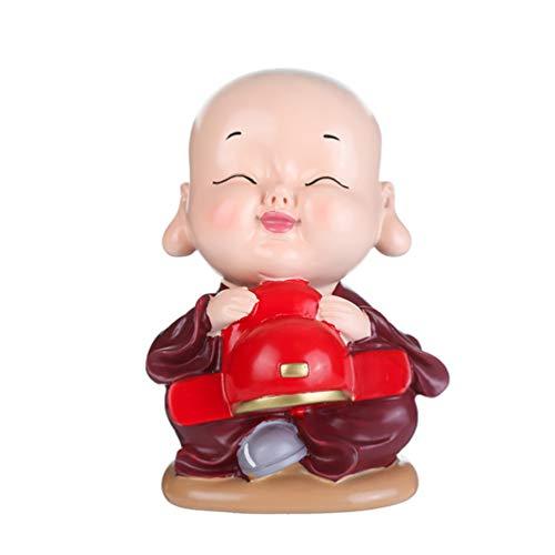SUPVOX Piggy Bank Monk Figure Coin Bank Buddha Ornament Desktop Decoration Children Friends Family Birthday 2020 New Year Gifts (Mixed Pattern)