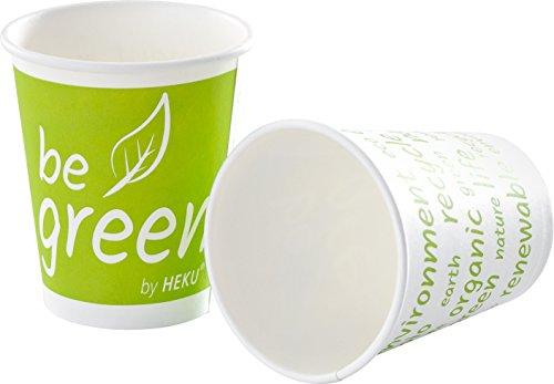 HEKU 30508, 25Bicchieri Be Green, 0, 2L, in Cartone/biokunststoff PLA
