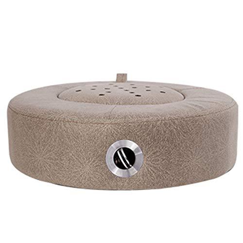 Home Moxibustion Pad Temperaturkontrolle geräucherte Wormwald hölzerne sitzende Moxibustion-Hocker, Nano-Tuch starker Lager einfach zu bedienen,Braun