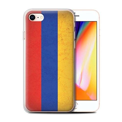 Telefoonhoesje voor Apple iPhone SE 2020 Aziatische vlag Armenië/Armeens Ontwerp Transparant Heldere Ultra Zachte Flexi Siliconen Gel/TPU Bumper Cover