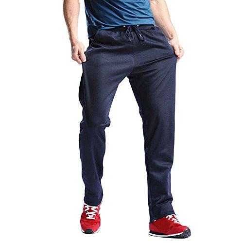 Cebbay Pantalons de Sport pour Hommes, Pantalons de survêtement Hip Hop Jogging Joggers, Respirant Confortable Pantalon Léger Automne Jogger Liquidation Pas Cher(Bleu foncé,3XL)