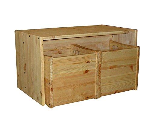 Kindermöbel, Kindersitzgruppe Tisch, 2 Wendehocker Höhe verstellbar, Holz massiv, ohne Schadstoffe