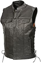 buffalo leather vest motorcycle