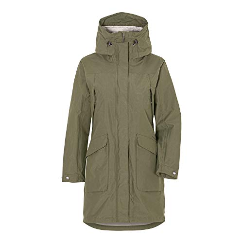 Didriksons Agnes Women's Coat 3 Dusty Olive - Regenmantel, Größe_Bekleidung_NR:40, Farbe:Dusty Olive