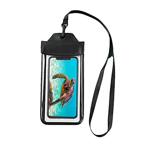 Yueba Funda Impermeable   Bolsa De Teléfono Seca subacuática con cordón   para Playa natación Bote Snorkeling Proteger teléfono   para la mayoría de los teléfonos Inteligentes de 7,0 Pulgadas (Negro)
