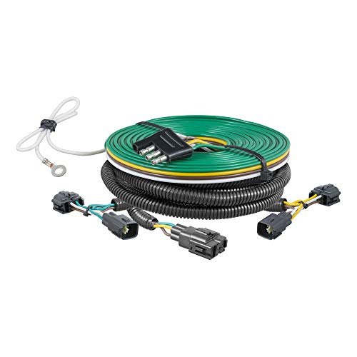 CURT 58902 Custom Towed-Vehicle RV Wiring Harness for Dinghy Towing, Fits Select Jeep Wrangler TJ ,...