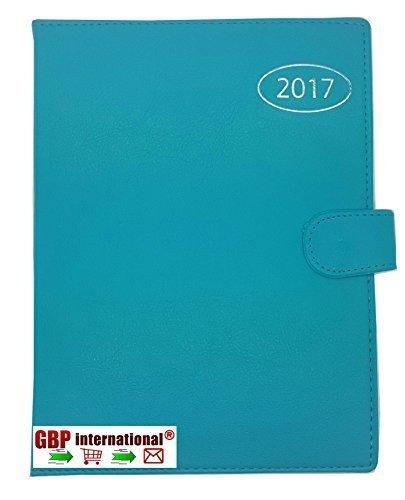 2016 A5 Wochenansicht Tagebuch Terminplaner mit adressbuch und stift - Blaugrün/Blau